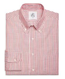 Red Stripe Button-Down Shirt