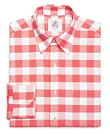 Large Gingham Button-Down Shirt