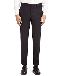 WOOL TWILL BUTTON POCKET Trousers