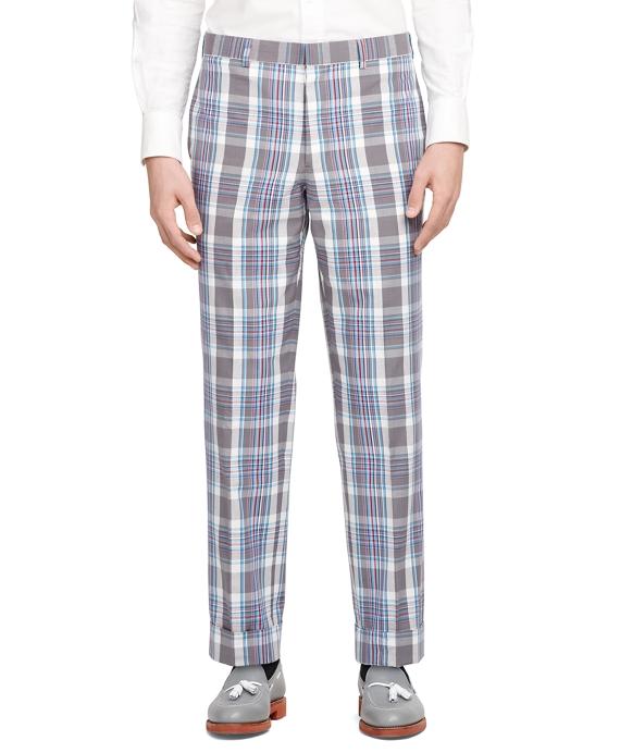 Madras Belt Loop Trousers Grey