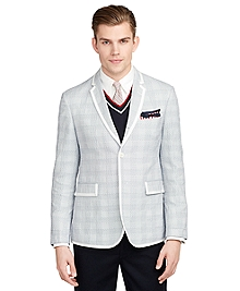 Gingham Tipped Sport Coat