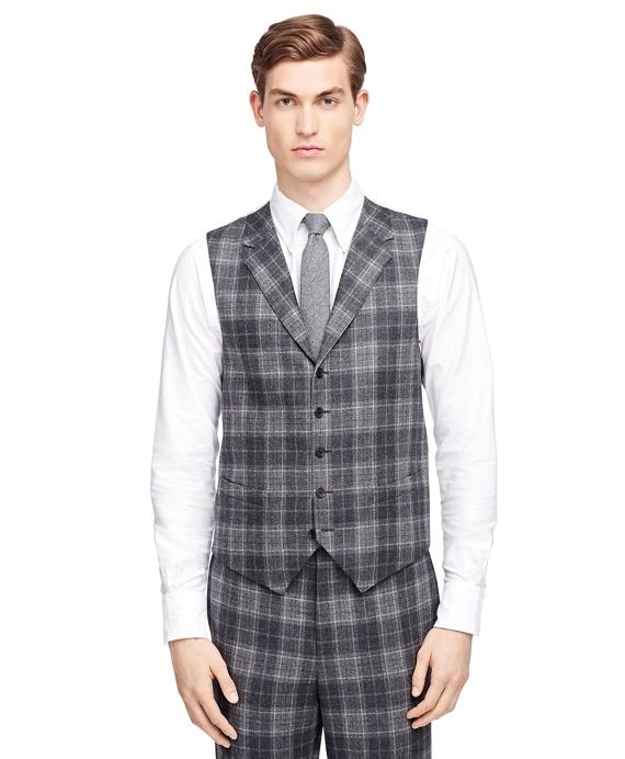 Plaid Vest Grey