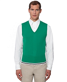 Tipped Vest with Contrast Back