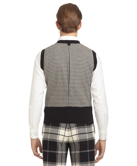 Check Button Front Sweater Vest Brooks Brothers