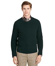 Green Thermal Crewneck Sweater