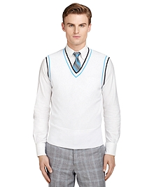 Two-Color Tipped Vest