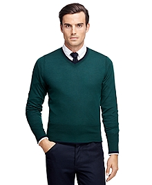Tipped V-Neck Sweater