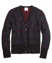 Argyle Button-Front Cardigan