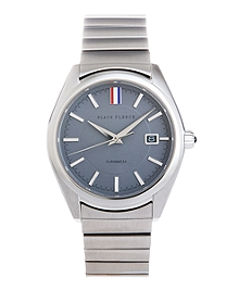 Grey Metal Band Watch