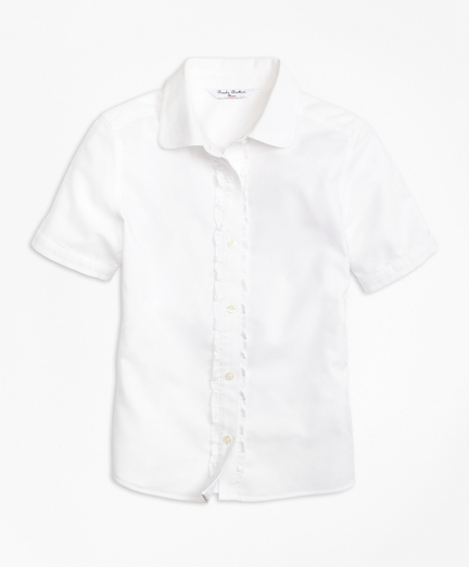 Girls Non-Iron Short-Sleeve Oxford