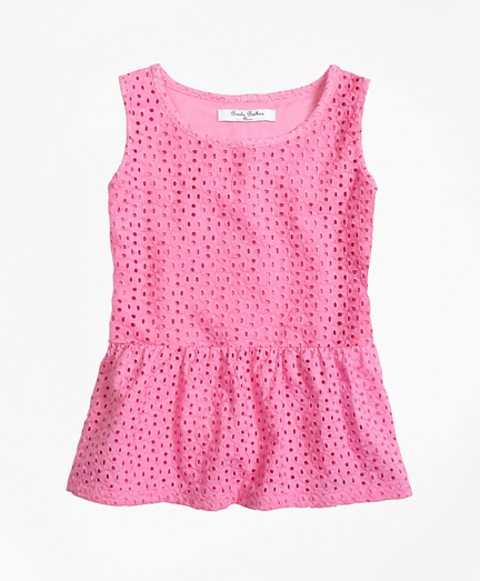 Girls Cotton Eyelet Blouse