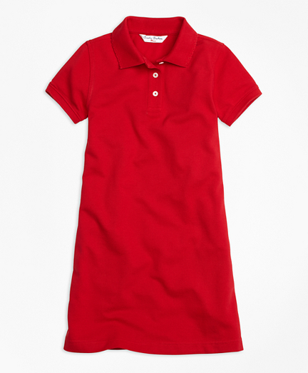 Girls Short-Sleeve Polo Dress