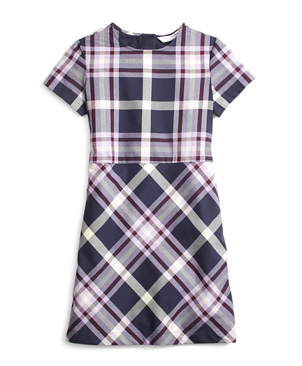 Short-Sleeve Tartan Dress