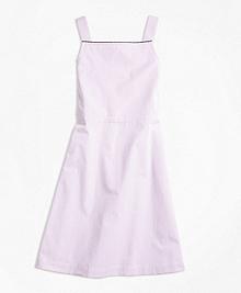 Seersucker A-Line Dress