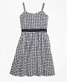 Cotton Butterfly Print Sleeveless Dress