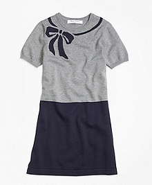 Supima® Cotton Intarsia Sweater Dress