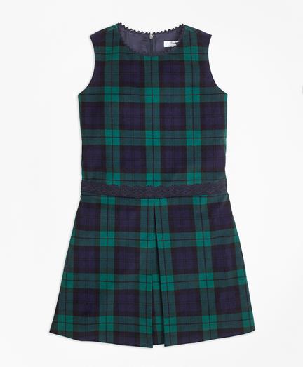 Girls Velvet Black Watch Dress