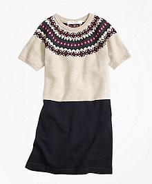 Merino Wool Fair Isle Sweater Dress