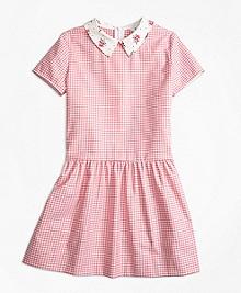 Cotton Stretch Gingham Dress