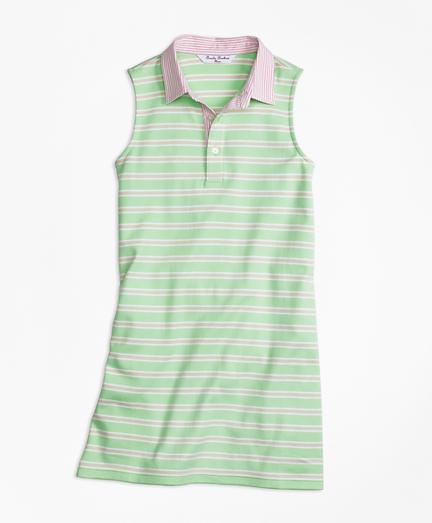 Girls Sleeveless Striped Dress