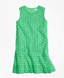 Sleeveless Cotton Eyelet Dress