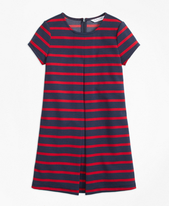 Girls Stripe Ponte Dress