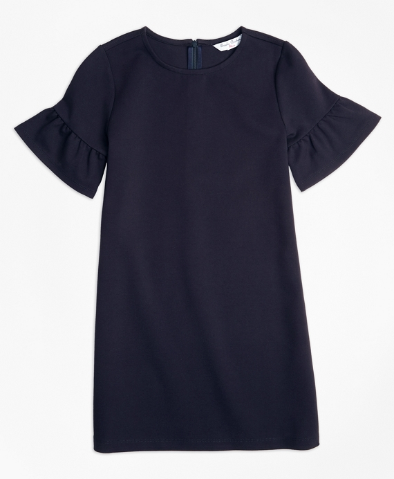 Girls Ponte Shift Dress Navy