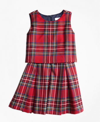 Girls Holiday Tartan Dress