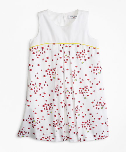 Girls Cotton Bug Print Dress