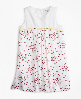 Girls Cotton Bug Print Dress