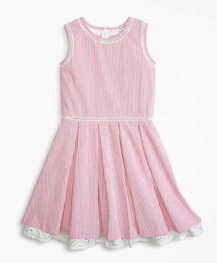 Girls Cotton Seersucker Dress