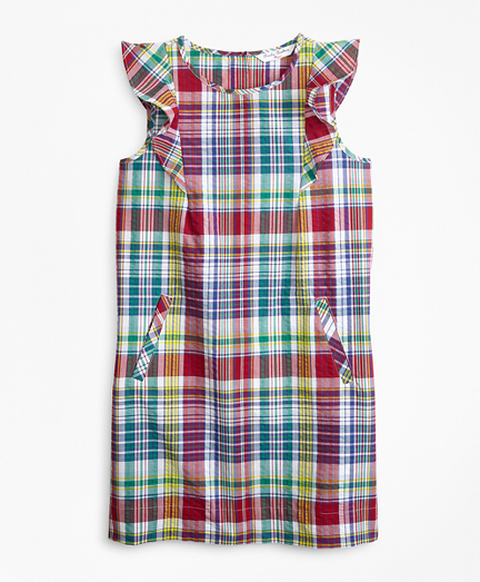Girls Cotton Madras Dress