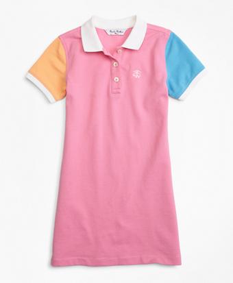 Girls Fun Cotton Pique Polo Dress