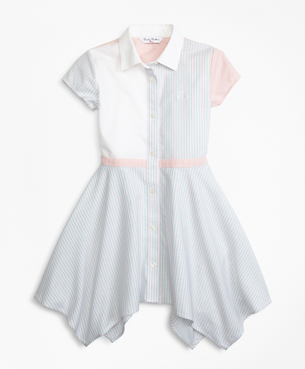 Girls Non-Iron Supima® Cotton Oxford Fun Shirt Dress