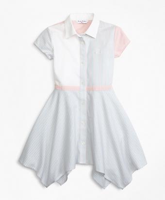 Girls Non-Iron Supima® Cotton Oxford Fun Shirt Dress