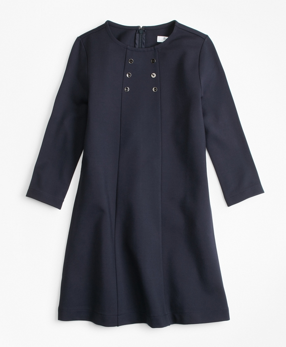 Girls Knit Ponte Dress Navy