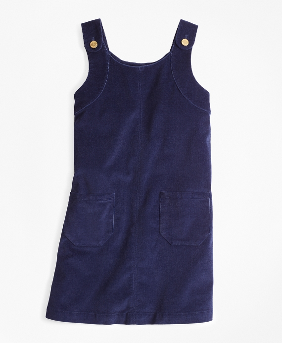 Girls Corduroy Jumper Navy
