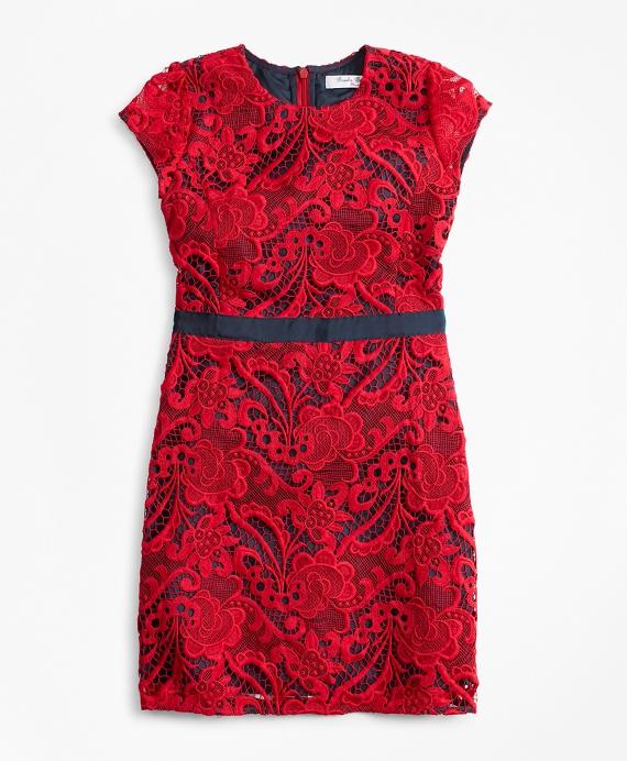 Girls Lace Dress Red