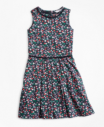Girls Supima® Cotton Floral Dress