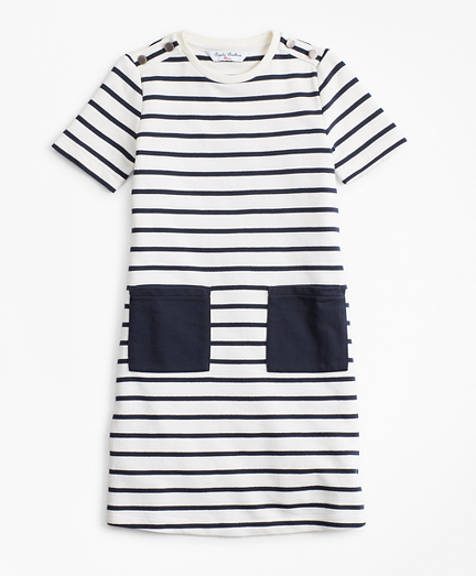 Girls Cotton Stripe Dress