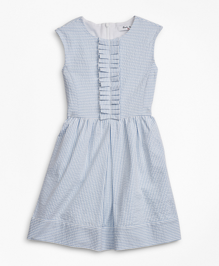 Girls Seersucker Dress