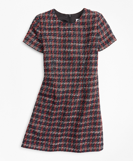 Girls Tweed Boucle Dress