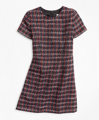 Girls Tweed Boucle Dress