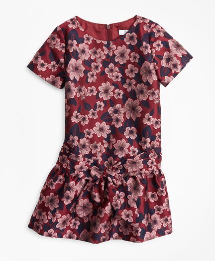 Girls Jacquard Drop Waist Dress