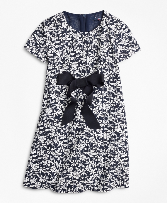 Girls Floral Dress Blue