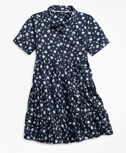 Girls Non-Iron Supima® Cotton Floral Dress