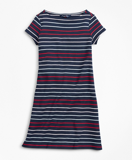 Girls Cotton Knit Stripe Dress