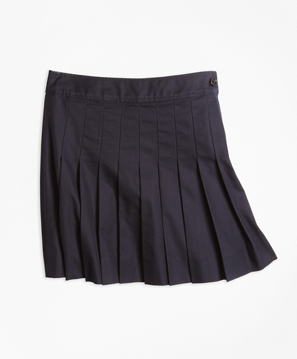 Girls Pleated Chino Skirt