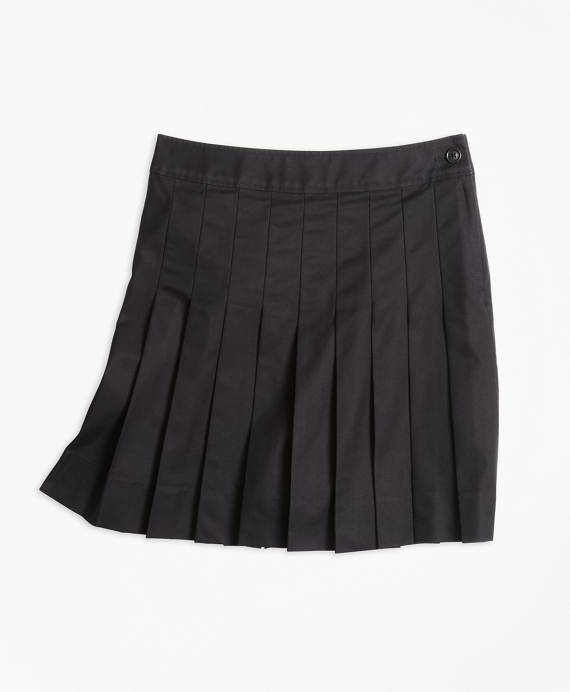 Girls Pleated Chino Skirt Black