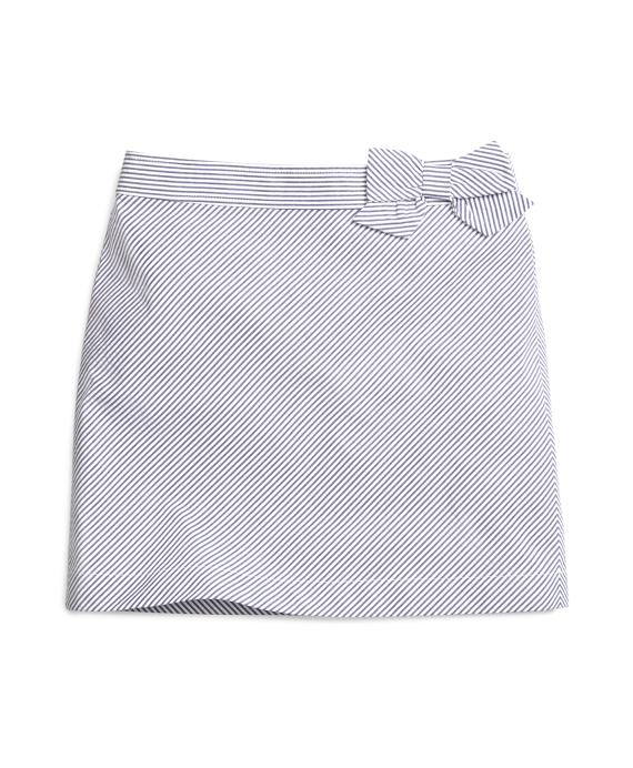 Girls Seersucker Skirt Blue